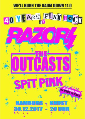RAZORS + THE OUTCASTS + SPIT PINK