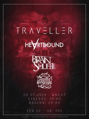 TRAVELLER + BRAINSHUFFLE + HEARTBOUND + AMIDA SYNDROME