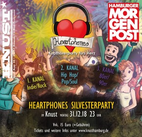 HEARTPHONES SILVESTERPARTY