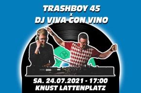 KNUST GEBURTSTAG 27+18: TRASHBOY 45 + DJ VIVA CON VINO